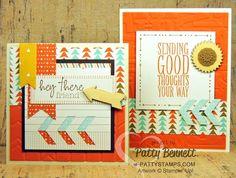 Retro Fresh quick and easy cards