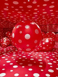 Red Polka dots & balloons <3
