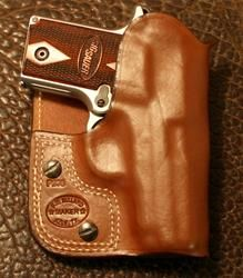 PWC Pocket/Wallet Holster .380's.  You  can't tell the difference between a regular wallet or carrying.  My choice for my LCP.  Very easy draw.