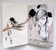 Nightmare Sketchbook by Liza Corbett