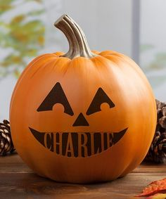This Pumpkin Face IV Personalized Décor is perfect! #zulilyfinds