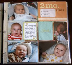 Megan Liane's Blog: Project Life 2011 Catch Up + Month 2 Baby Pages.  I like the idea of the stats