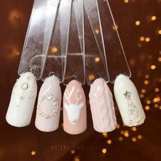 Gorgeous holiday subtle nail art