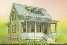 Cottage Style House Plan - 2 Beds 1 Baths 697 Sq/Ft Plan #514-10 Exterior - Front Elevation - Houseplans.com