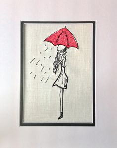 "Unique Urban Machine Embroidery Digital Design File ""Girl With Red Umbrella""All of my designs are hand drawn by me3 sizes includedFits to fill 4X4, 5X7 and 6X10You will receive the following formats that will fit a 4X4, 5X7"" hoop or large.....DSTEXPHUSJEFPESVIPVP3XXXJAN*If you need a different format or size please message me in advance.This is a digital download ONLY for the embroidery image listed in picture.You must have a computer with an embroidery machine to use this file.Resizing is…"