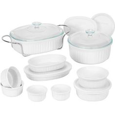 CorningWare 17-Piece French White Bake and Serve Set     want this