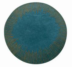 Tapis Équinoxe, Élizabeth Leriche (Roche Bobois) #rochebobois #alfombra #diseñoalfombra #tapete #moderno #decoracionmoderna #tapetemoderno #ideasmodernas #azul #verde #circular