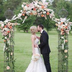 Coral Outdoor Wedding