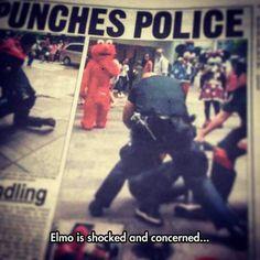 Elmo's face tho