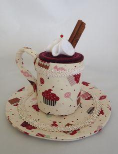 xícara de tecido Tea Cups, Tableware, Fabrics, Dinnerware, Dishes, Place Settings, Teacup, Cup Of Tea