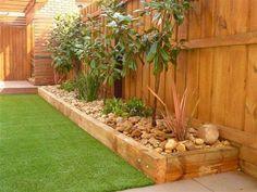 Bildergebnis für easy garden ideas along fence line