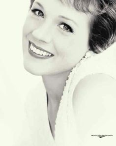 Julie Andrews, LOVE HER. Also, this is the perfect headshot. Sincere, beautiful, and clean.