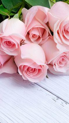 Bukiet różowych róż - Tapeta na telefon