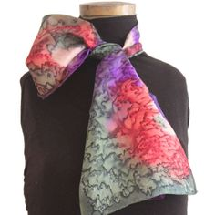 We are proud to present our exclusive collection of scarves. Each scarf is unique and made entirely by hand using the finest quality of silk. Floral Tie, Scarves, My Etsy Shop, Hand Painted, Silk, Trending Outfits, Unique Jewelry, Check, Shopping