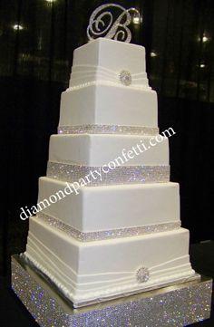 """2"""" Rhinestone Crystal Wedding Cake Brooch Flower Bouquet Pin Decoration Item#1"""
