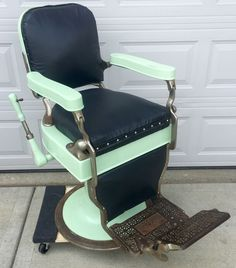 High Quality Antique Theo A Kochs Barber Shop Chair For Restoration Parts Possible  Delivery | EBay