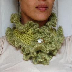 Crochet Ruffled Scarf PDF PATTERN by PatternsbyMarianneS on Etsy, $3.95