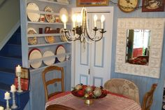 DIY Farmhouse Plate Rack.   Oooooooo, can't wait to read the tutorial:  great idea and doesn't take up much space!