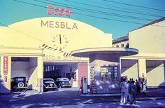1950 - Posto de gasolina em algum ponto ainda não identificado na cidade de São Paulo.