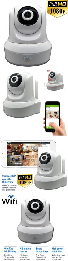 Security Cameras: Coolcam Prohd White 1080P Hd Wifi Wireless Ip Home Network Security Camera Ptz -> BUY IT NOW ONLY: $59.99 on eBay!
