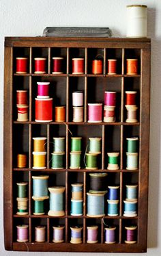 I knew I shouldn't use my old wooden spools of thread