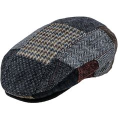 Stetson Hatteras Patchwork Check Flat Cap Men Lining Summer-Winter Made in The EU Wool Ivy hat Men/´s with Peak