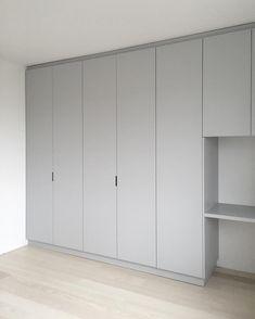 Office Table custommade wardrobe, grey, built in desk Wardrobe Doors, Bedroom Wardrobe, Wardrobe Closet, Built In Wardrobe, Closet Doors, Kids Wardrobe, Bedroom Closet Design, Wardrobe Design, Built In Desk