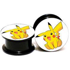 Pokemon Pikachu Acrylic Ear Plugs