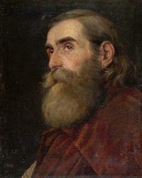 Porträt eines alten, bärtigen Mannes by Carl Rahl