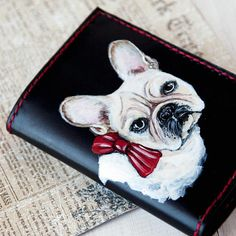 Credit card holder Slim womens wallet dog lovers gift for