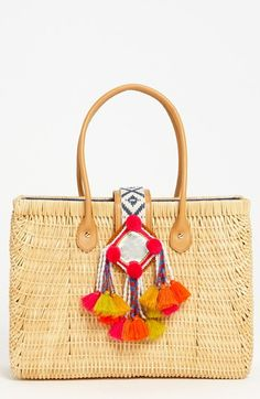 Yes YES YES to this Rattan Tory Burch Tote