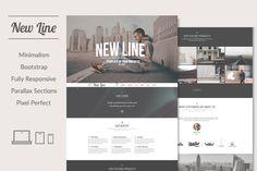 New Line   Minimalism HTML template by ThemesJuice on Creative Market