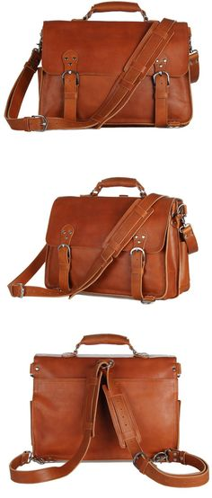Convertible Genuine Leather Briefcase & Backpack #Selvaggio