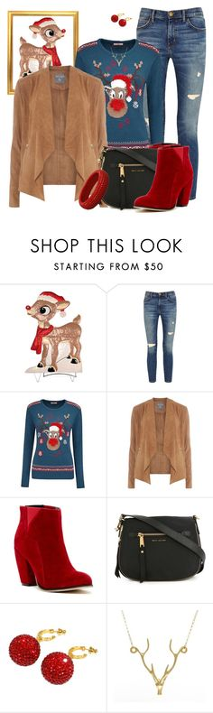 """""""RED NOSED by Shaunslay"""" by shaunslay ❤ liked on Polyvore featuring Improvements, Current/Elliott, Joe Browns, Dorothy Perkins, Michael Antonio, Marc Jacobs, Deanna Hamro and Lee Renee"""