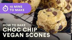 How to bake the perfect vegan chocolate chip scones in 10 minutes. This is a super easy vegan recipe great for baking with kids and parents! Vegan Recipes Easy, Baking Recipes, Vegan Chocolate, Chocolate Chips, Vegan Scones, Milk And Vinegar, Vegan Cookbook, Baking With Kids, Vegan Cake
