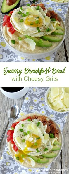 Savory Breakfast Bowl with Cheesy Grits Recipe
