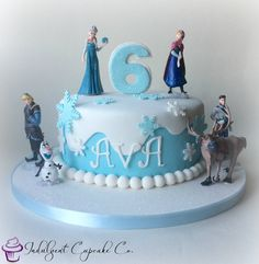 Frozen themed cake.............