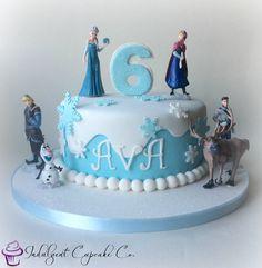 Frozen themed cake.............