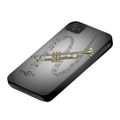 Trumpet Musical Scale ~ Black ~ Gray Background
