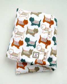 Large Heating Pad Microwavable Scotty Dogs  by lizkingdesigns