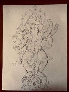 Ganesha Painting, Ganesha Art, Krishna Art, Columns Decor, Ganesh Tattoo, Shivaji Maharaj Hd Wallpaper, Air Brush Painting, Hindu Art, Indian Gods