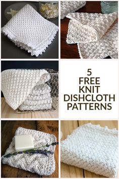 knitting dishcloth Tackle your yarn stash with these 5 free knit dishcloth patterns. Knitted dishcloths and knitted washcloths are quick and easy projects; you could quickly knit up a dishcloth stash for gifting or for keeping for yourself. Knitted Washcloth Patterns, Knitted Washcloths, Dishcloth Knitting Patterns, Knitting Stitches, Free Knitting, Crochet Patterns, Sock Knitting, Crochet Dishcloths, Knitting Machine