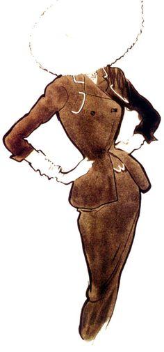 René Gruau (1909-2004) - a good an elegant way to cover the face
