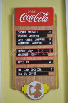 Signs from My Diner - Southern Plate Diner Sign, Swiss Cheese, Love Me Quotes, Chicken Sandwich, Tomato Soup, Homemaking, Coca Cola, Sandwiches