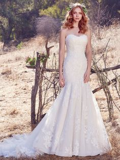 Maggie Sottero is one of the top designers in the business. We carry the full line of Maggie Sottero gowns and dresses for your entire bridal party. Lace Wedding Dress, Fit And Flare Wedding Dress, Gorgeous Wedding Dress, Dream Wedding Dresses, Bridal Dresses, Sottero And Midgley Wedding Dresses, Designer Wedding Gowns, Wedding Designers, Affordable Wedding Dresses