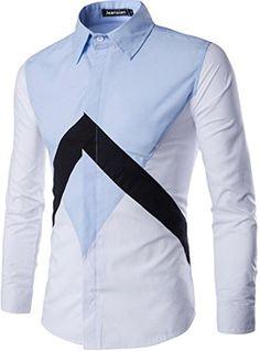 jeansian Men's Irregular Stitching Long Sleeves Dress Shirts 2 Colors 84D2 LightBlue M jeansian http://www.amazon.com/dp/B01CFIK91O/ref=cm_sw_r_pi_dp_iVN1wb0D52NQ4