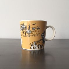 Your place to buy and sell all things handmade Moomin Mugs, Yellow Mugs, Tove Jansson, Little My, Mug Designs, Camilla, Finland, My Etsy Shop, This Or That Questions
