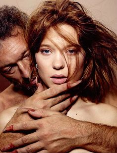 Léa Seydoux Vincent Cassel | by Jean-Baptiste Mondino for Beauty And The Beast…