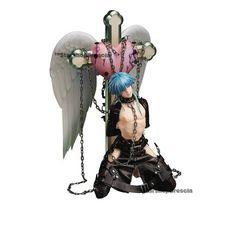 Statues, Blue Hair Anime Boy, Anime Figurines, 3d Girl, Pastel Goth, Uni, Nativity, House Ideas, Plush