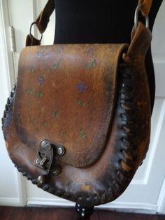Vintage Tiny Floral Mexican Leather Boho Bag on Etsy, $25.00